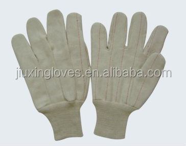Natural white cotton hotmill glove