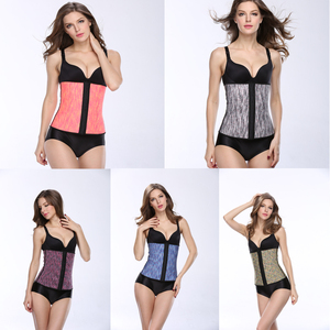 new Woman Latex Waist Training Corsets Wholesale with colorful latex waist training cincher corsets