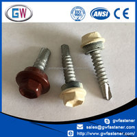 Free Sample colorbond painted head self drilling cladding screws