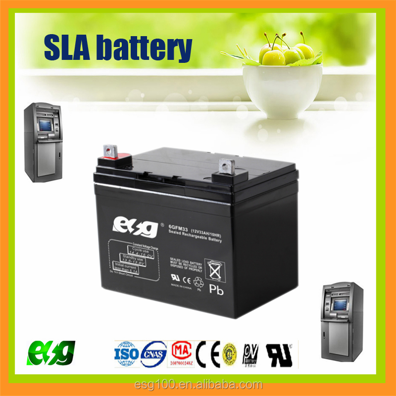ESG Hot Sale Deep cycle Solar Wind Storage Battery 12V33AH lead acid battery