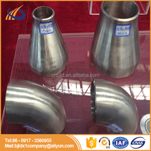 Titanium pipe fitting eccentric reducer types & titanium tee hot sale OEM plant fabrication