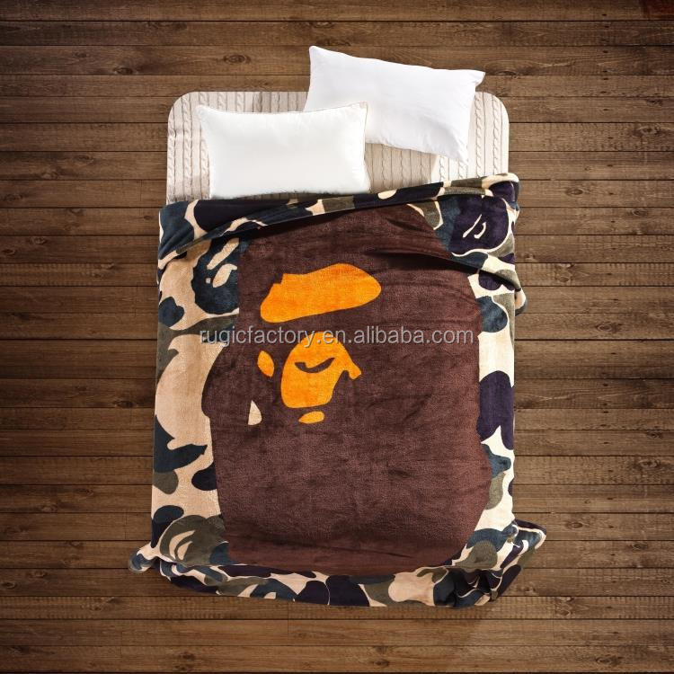 Hot Sale A Bathing Ape / Bape Blanket Soft Warm WGM Sharks Blankets