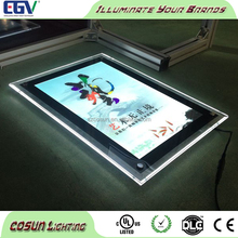 One Side Slim Led Acrylic Crystal Advertising Led Light Box,LED Acrylic Panel light box r,Display Lights for Real Estate
