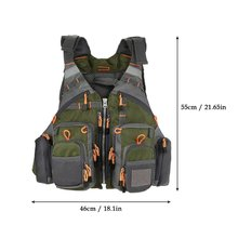 Fishing Hunting Backpack Tear-resistant Adjustable Breathable Fly Fishing Vest With Adjustable Size
