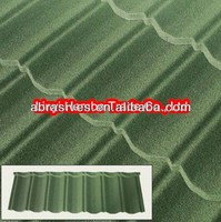 Classical type stone coated green roof tiles
