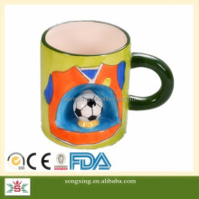 World cup football promotional gifts ceramic coffee mug