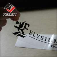 Cosmetics clear epoxy resin sticker, adhesive sticker, plain label