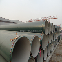 outside epoxy resin Cement motar lined coating anticorrosion SSAW steel pipe for water supply drain