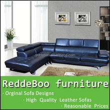 high quality L shape leather sofa new model furniture living room