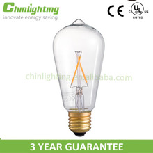 Antique vintage light filament bulb st64 5.5W st21 style st64 standard led filament 6w