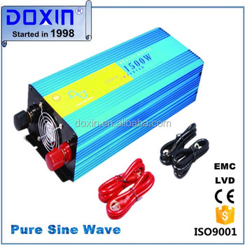 10% off customized!DC12v/24v/48v/60v to AC OEM single off grid 1500W inverter pure sine wave solar power Inverter