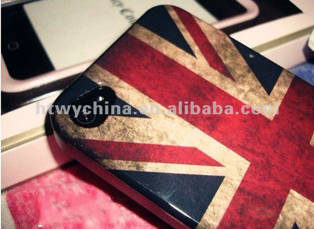 OEM Retro Style Flag Pattern Hard Case Cover For iPhone 4 4S 4G