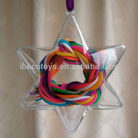 decorative empty plastic star shape container
