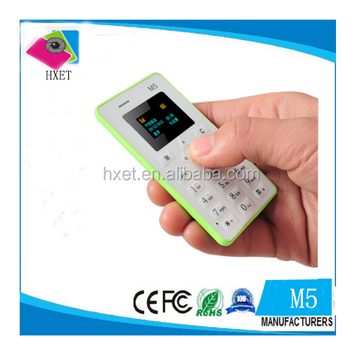 Wholesale thin card size phone mobile m5 mobile phone