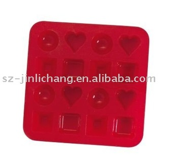 Red color blister tray for chocolate