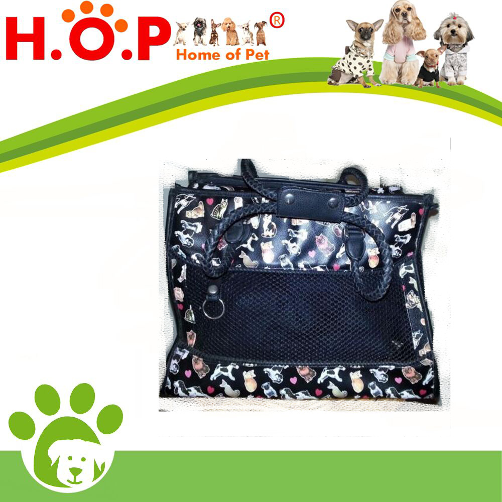 SMALL TOY BREED PET DOG CAT FRONT PICTURE CARRY TRAVEL BAG TOTE