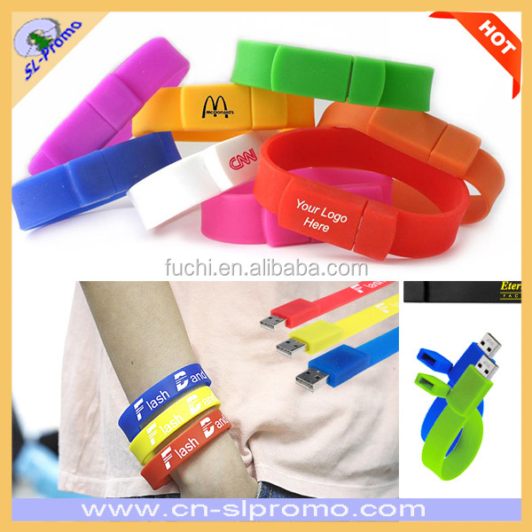 High Quality Silicone Wristband USB Flash Drive USB Flash Memory