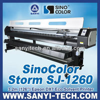 3.2m 1440dpi Best Eco Solvent Printer With Epson DX7 Heads For High Quality Banner Printing
