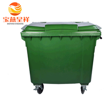 large size waste box 1100 ltr environment friendly square trash bin plastic hdpe pp containers industrial garbage can with wheel
