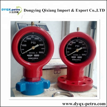 Drilling Mud Pump spare parts Type F Pressure Gauge Model 6 for the capacities up to 20000PSi in oilfield