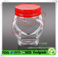 heart shaped plastic bottles ,wholesale pet heart shaped plastic candy bottles