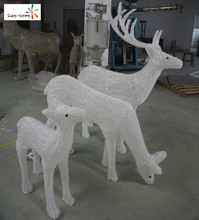 Fancy decoration solar artificial deer christmas deer white with high quality