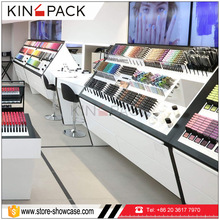 2017 modern creative cosmetics case display stand for makeup shop shelves display furniture design
