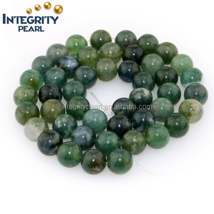 high quality and low price 4 6 8 10 12mm simple cuture design natural wholesale agate green