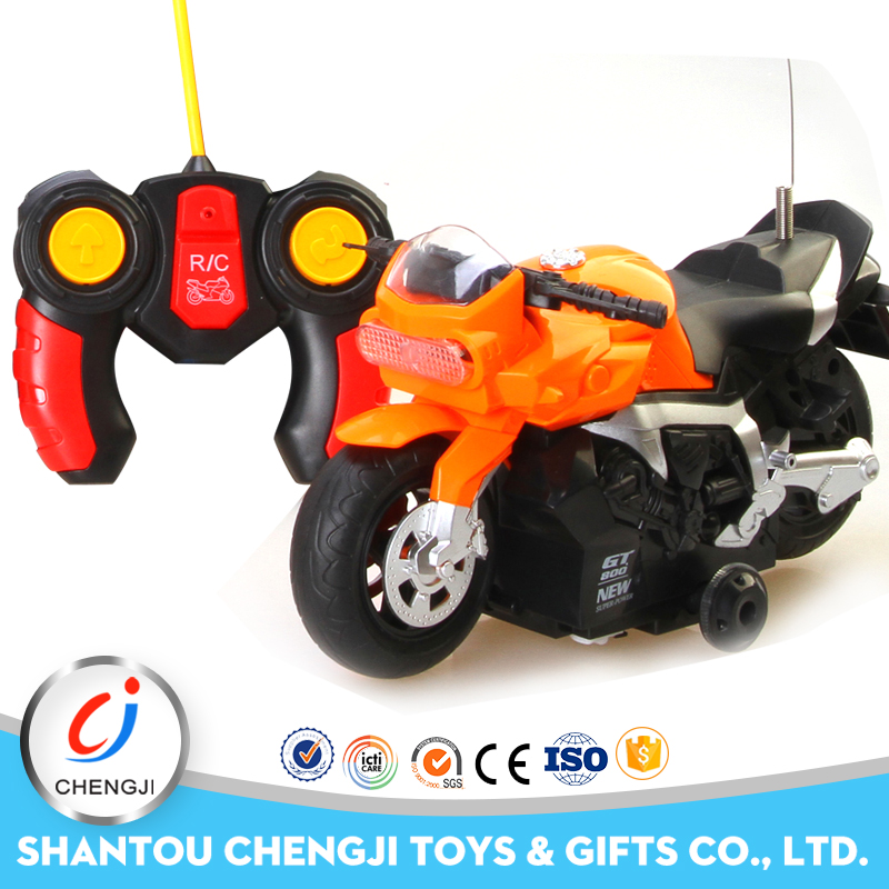 Low price shantou factory remote control toy mini motorcycle with light and music