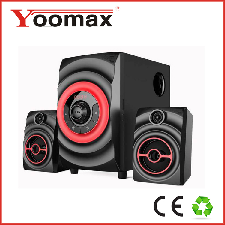 2.1 portable wireless subwoofer multimedia home theater system bluetooth speaker
