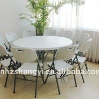 5ft Folding Round Table With Chairs