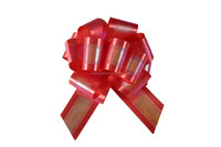 Festival holiday gift wrap bow,printing poly ribbon pull bow