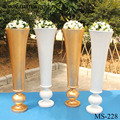 2018 white gold fiber glass vase wedding column walkway stand decoration for wedding party and event decoration (MS-228)