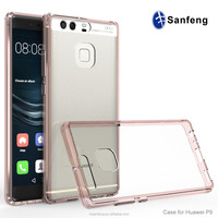 Two Piece Transparent PC TPU Cell Phone Case For Huawei Honor P9