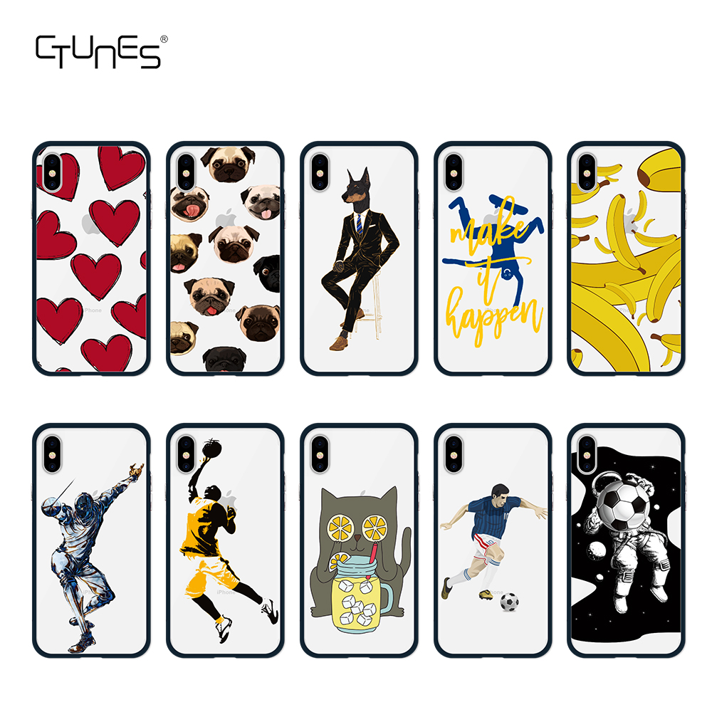 CTUNES New Arrival IMD PC Material Protective Case Cover Unique Pattern Design for iPhone 10 for iphone X