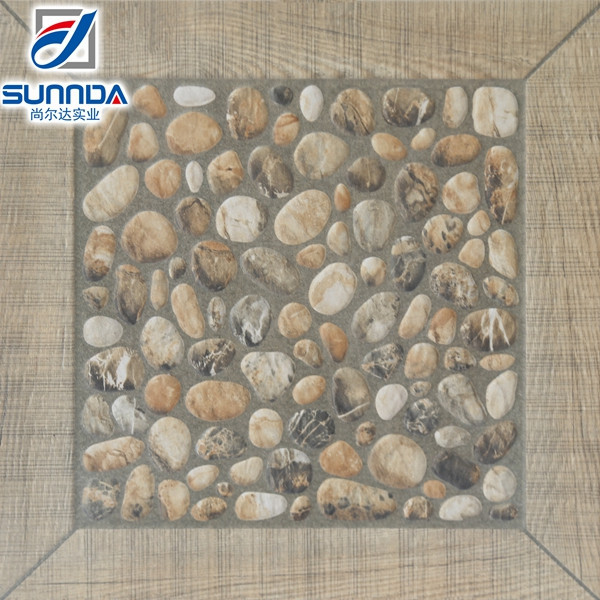 400X400mm imitate pebbles non slip ceramic floor terrace garden tile