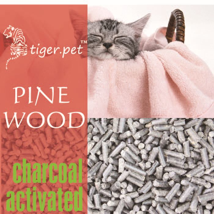 Bulk 100% biodegradable activated charcoal pine wood cat litter wholesale