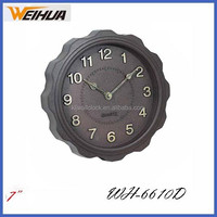 Antique quartz fashion design 7 inch wall clock