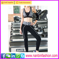 2016 high-end Private custom fitness sports pants tight yoga pants
