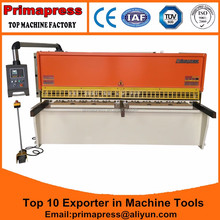 QC12K 8mm thick 3200mm length metal plate E21S system line rail shearing shear cutting machine