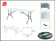 6 feet white plastic folding outdoor table for party or picnic