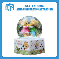 Wholesale cartoon animal model crystal ball, Creative household adornment music box