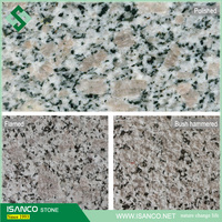 Chinese granite shandong origin G383 pearl flower granite slabs grey granite flamed brushed surface floor covering tiles