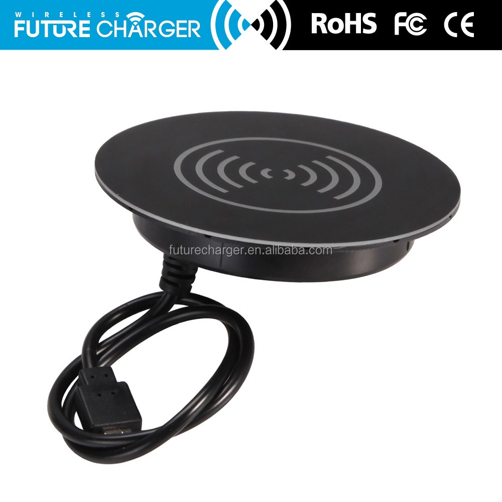 wireless charging table wireless desk charging embedded qi charger for office hotel bar table wireless