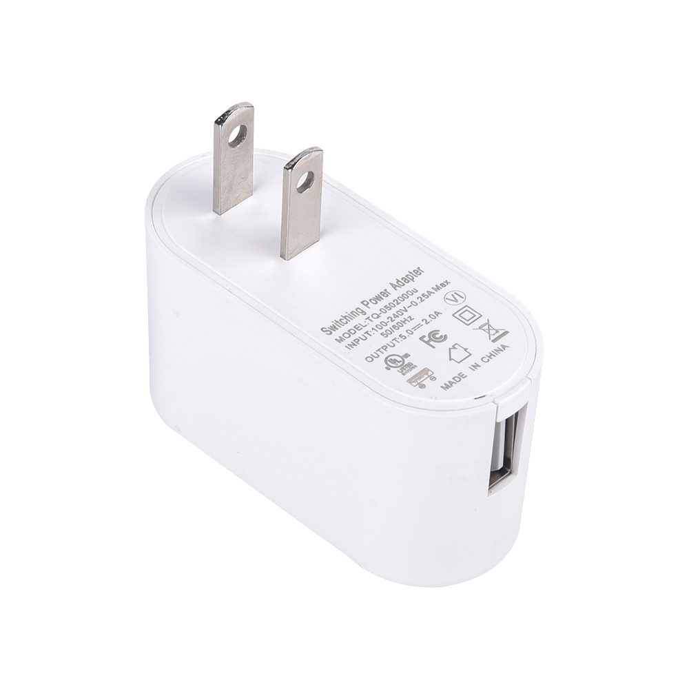 5v 2a usb power adapter 0.5a to 2.5a / 5v 2000ma charger adapter with UL/CUL TUV CE FCC PSE SAA level VI