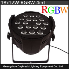 Stage led wall wash par 18 x 10w Led Par Can Light RGBW 4 In 1 DJ Lighting