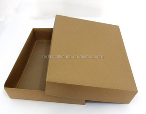 customized folding brown kraft paper box