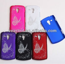 Butterfly Rubber Hard Case for Samsung Galaxy S Duos S7562