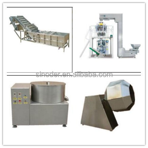 vegetable and fruit processing machine/Leafy vegetables and fruits cutting washing dewatering line in China
