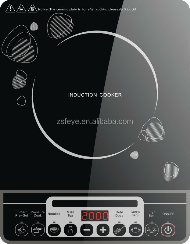 Electric press hob for home use with CB